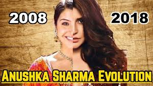 Anushka Sharma Evolution 2008-2018
